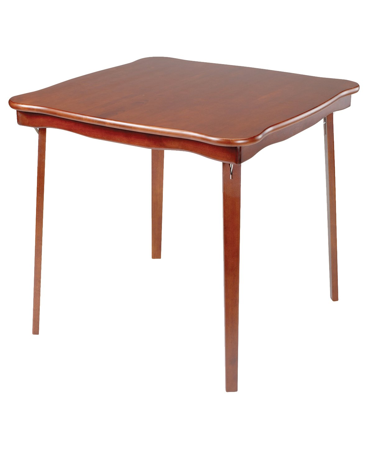 Stakmore Scalloped Edge Folding Card Table Finish, Cherry by MECO