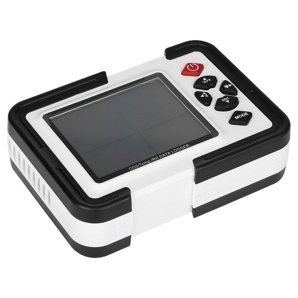 Galapare Medidor Co2 Detector di/óxido de Carbono Temperatura//Humedad Monitor de Calidad del Aire Detector de CO2 de Prueba preciso para la Oficina en el hogar Sensor NDIR Registrador de Datos