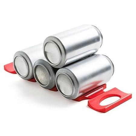 Rojo Silicona Soporte para almacenamiento de latas - juego de 2 ...