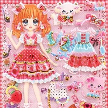 Pegatina japonesa esponjosa blanda muñeca para vestir kawaii ribbon ...