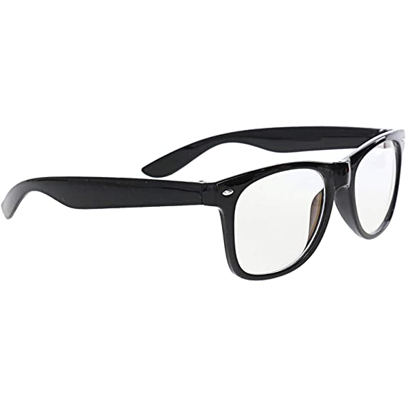 6881a4a690 Dervin Black Frame Clear Shade Wayfarer Reading Sunglasses for Men   Women   Amazon.in  Clothing   Accessories
