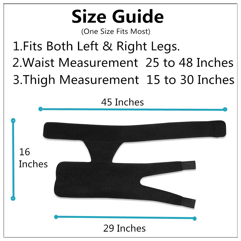 Groin Support Compression Recovery Thigh Wrap for Hip Injury Sciatica Adjustable Neoprene Thigh Compression Wrap for Sciatic Nerve Pain Neoprene Hernia Pulled Groin Quad Hamstring Brace for Men Women