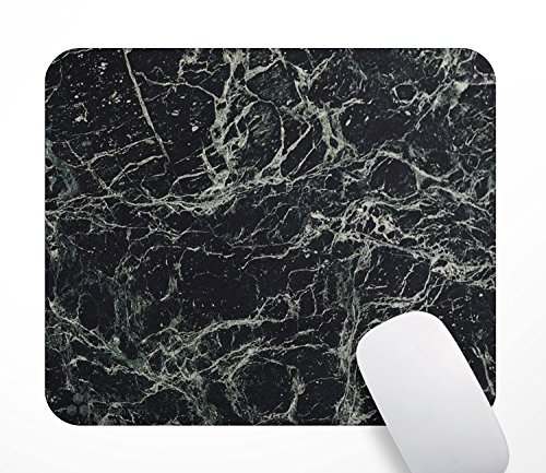 (Personalized Christmas Gifts Gaming Mouse Pad Marble Mousepad - Black Marble Design Pattern Mousepads, Rectangle Non-Slip Rubber Mouse Pads for Computer Work Office Game 9.5x7.9 inches.)