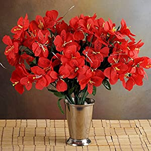 Tableclothsfactory 96 Artificial Mini Primrose Flowers - Red 3