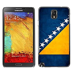 Shell-Star ( National Flag Series-Bosnia and Herzegovina ) Snap On Hard Protective Case For Samsung Galaxy Note 3 III / N9000 / N9005 hjbrhga1544