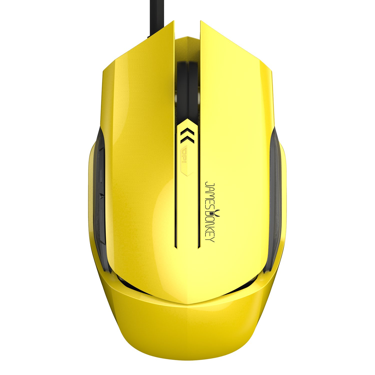 James Donkey USB Wired Gaming Mice with Adjustable 1000-2500 DPI,6 Butoons LED Optical Mouse for Pro Game Notebook PC Laptop(112C Yellow)