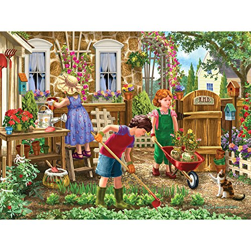 Bits and Pieces - 500 Piece Jigsaw Puzzle for Adults - Green Thumb Club - 500 pc Children Gardening Jigsaw by Artist Liz Goodrick-Dillon