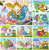 lizipai Crystal Diamond Mosaic Sticker Painting Kids Children Kindergarten Educational DIY Crafts Toys -10PCS Different