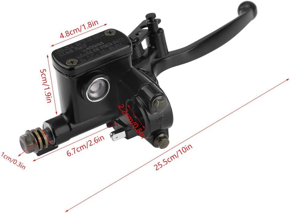 EVGATSAUTO Avant Droit Frein Embrayage Ma/ître-Cylindre Levier Pompe Convient pour 50cc 110cc 150cc Quad Bike ATV 7//8