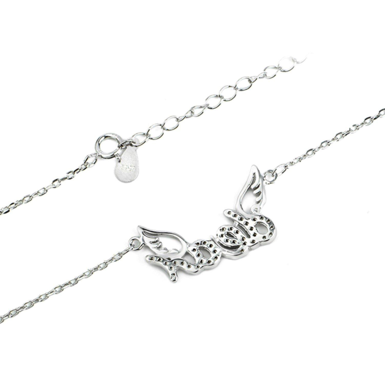 CS-DB Pendants Necklaces Silver Crystal Dear Pattern Jewelry Girls