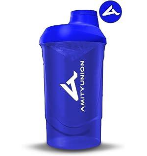 AMITYUNION Shaker Deluxe 800 ml - Proteína Shaker a prueba de fugas dark blue