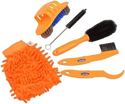 Kits de limpieza para bicicletas, Shineus 6pcs Cepillo limpio para ...