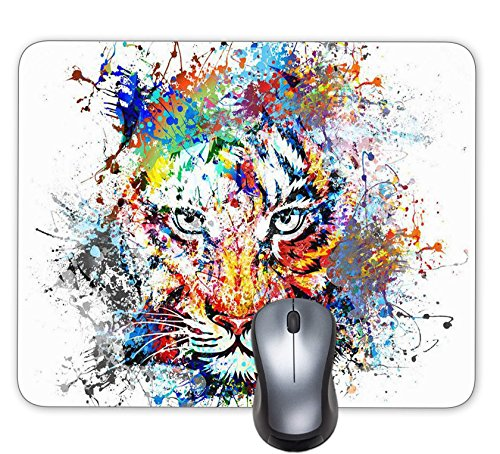 Progrian Ink Tiger Painting Background Mouse Pad Mouse Pad art ()