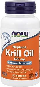 Now Supplements, Neptune Krill Oil, Phospholipid-Bound Omega-3, 60 Softgels
