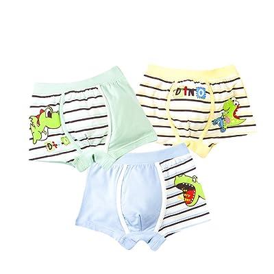 Evelin LEE Unisex Baby Cute Cartoon Underwear Panties Toddler 3PCS Briefs Training Pants