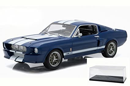 1967 Shelby GT500, Blue with White Stripes - Greenlight 12953 - 1/18 Scale  Diecast Model Toy Car