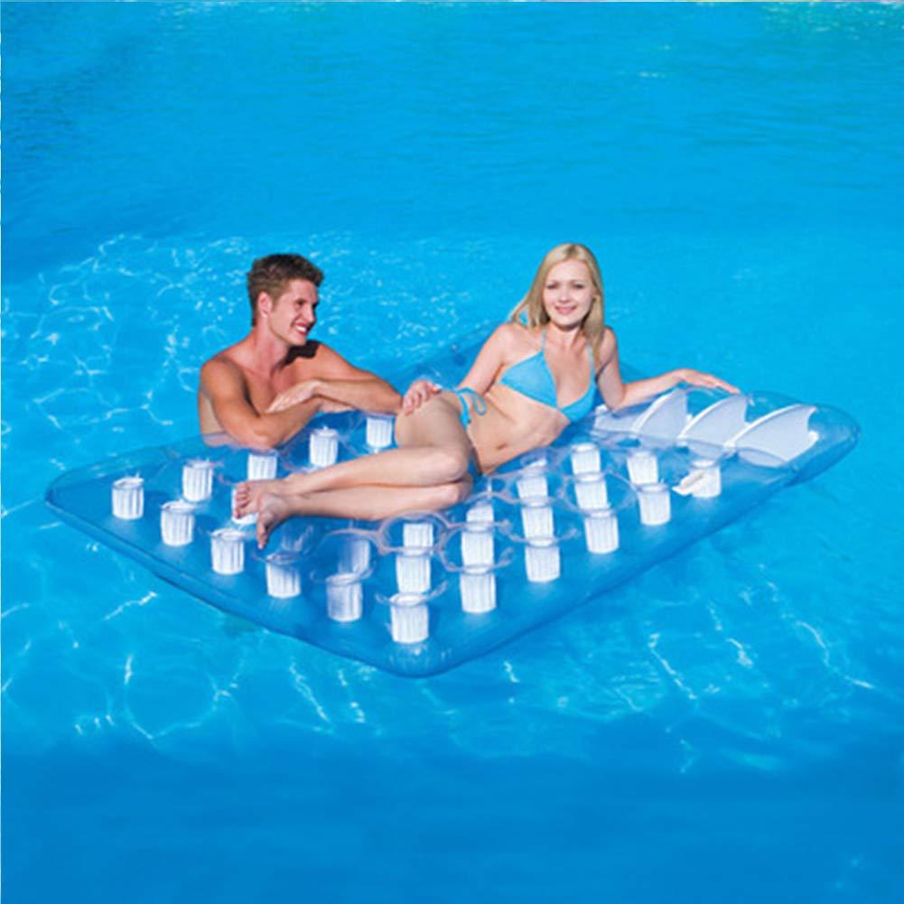 xihongshi Doppelte aufblasbare Sich hin- und herbewegende Reihe, Luftbett, Schwimmenring, aufblasbares Bett, Starkes Sich hin- und herbewegendes Bett, lehnender Stuhl, eine Gute Wahl für Paare