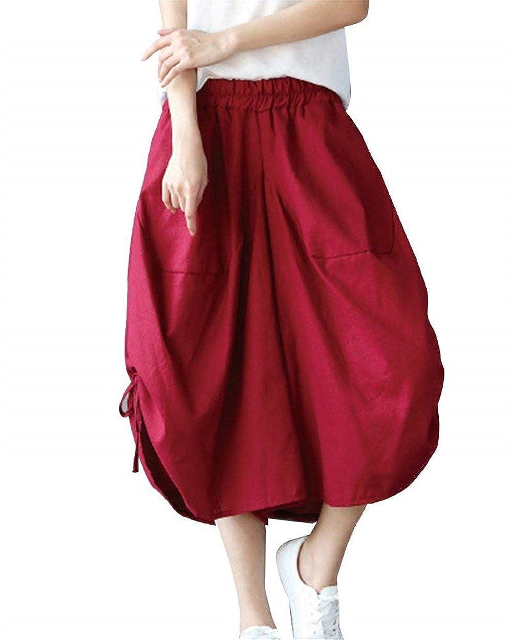 Mujer Pantalon Pirata Mujer Elegante Verano Pantalones Harem ...