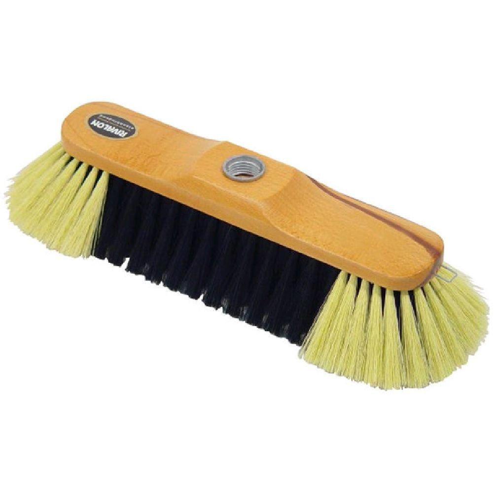 Floor Brush Head in Wood and Horsehair Testrut