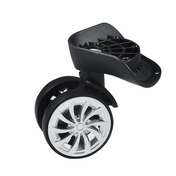 Rueda Giratoria (goma, equipaje maleta ruedas pivotantes reemplazo 55 mm ruedas para carrito - Maleta Negro, Pack de 2: Amazon.es: Bricolaje y herramientas