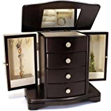 Amazoncom Harper Blvd Cherry Wood Jewelry Armoire Home Kitchen