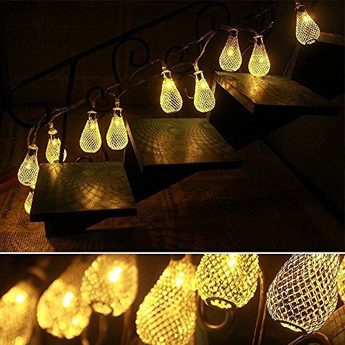 Baihemiya Gold Moroccan LED String Lights Curtain Christmas Light for Indoor, Bedroom, Patio ...