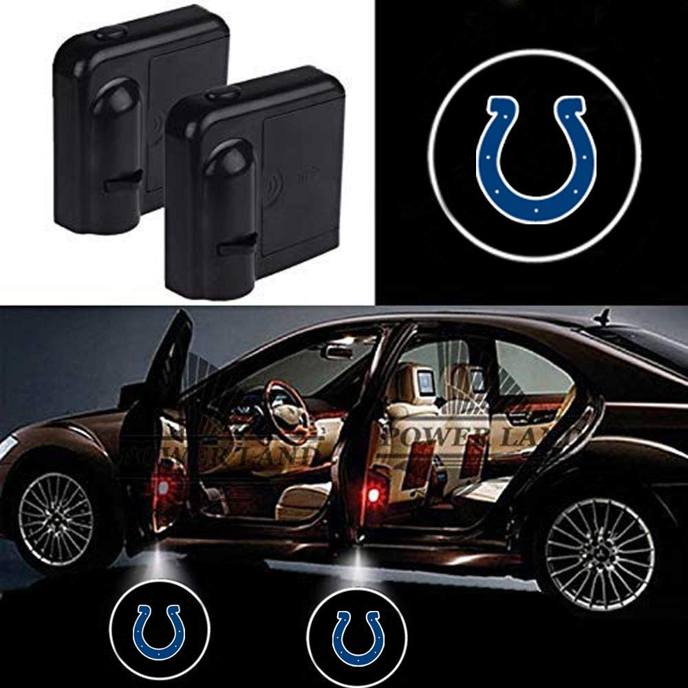 For Fit Indianapolis Colts Car Door Led Welcome Laser Projector Car Door Courtesy Light Suitable Fit for all brands of cars Fit Indianapolis Colts