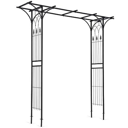 Amazon.com : Giantex Garden Arch Arbor High Wide Metal Steel Frame ...