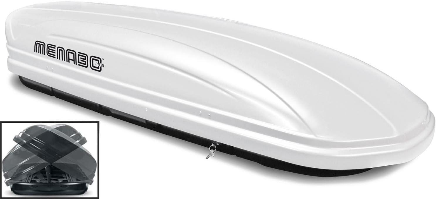 Dachbox Weiß Vdp Maa580 Duo Großer Dachkoffer Abschließbar Alu Relingträger Dachgepäckträger 580 Liter Kompatibel Mit Vw Touran Kombi 03 14 Auto