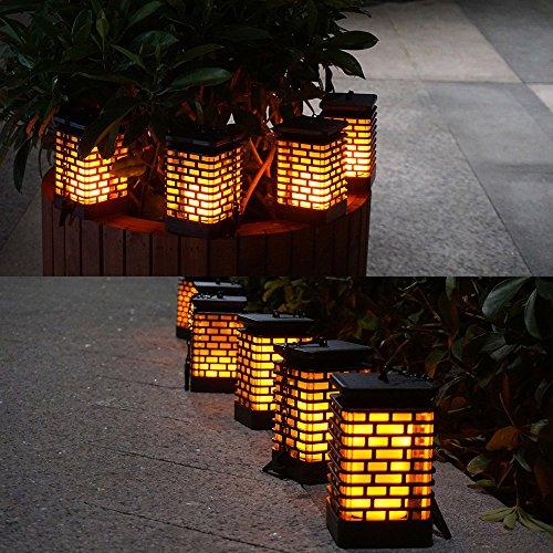 Solar Flame Lights Solar Hanging Lanterns Dancing Flicking Flame Outdoor Waterproof Decoration Umbrella Lantern Night Lights for Garden Patio Yard by Arzerlize (Image #4)