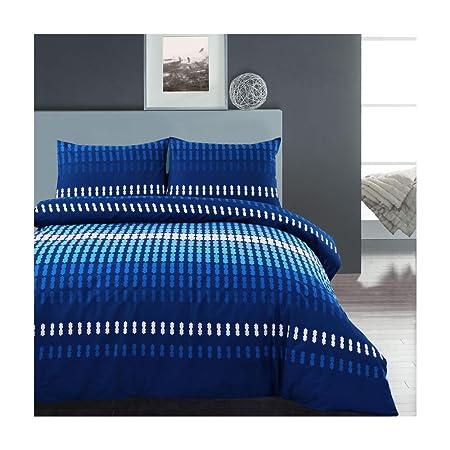 Argyle King Size Quilt Duvet Cover and 2 Pillowcase Reversible Bedding Bed Set,