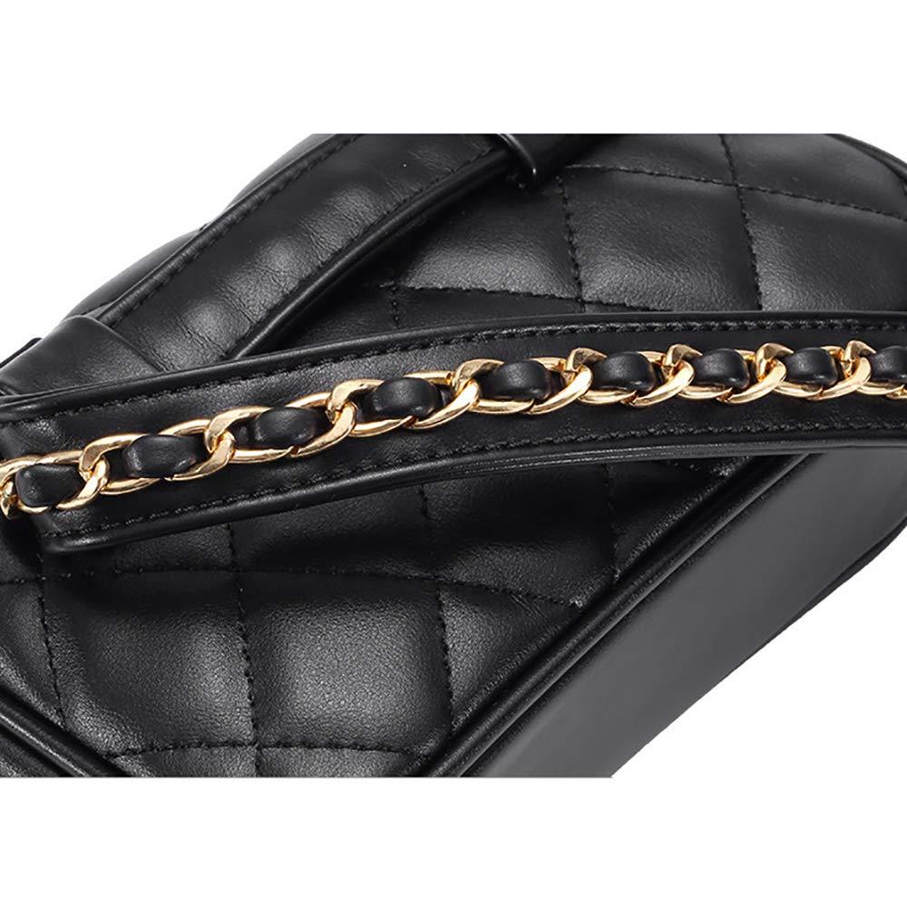 Nero Donna Borse a Mano PU Borsa Marsupio Fanny Pack Waist Packs con Cintura Regolabile