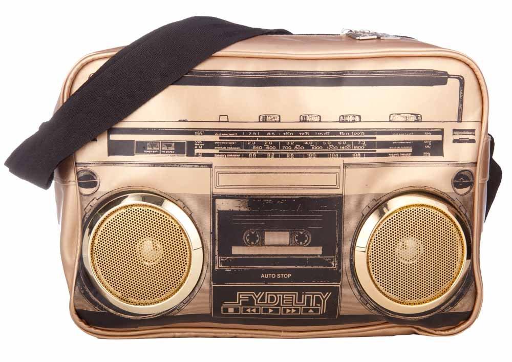 Fydelity G-Force Stereo Shoulder Bag Black/Gold 92410