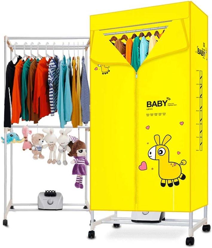 FORWIN UK- Secadores multifuncionales de Gran Capacidad para secadores rápidos de bajo Consumo de energía para el hogar (Color : Amarillo)