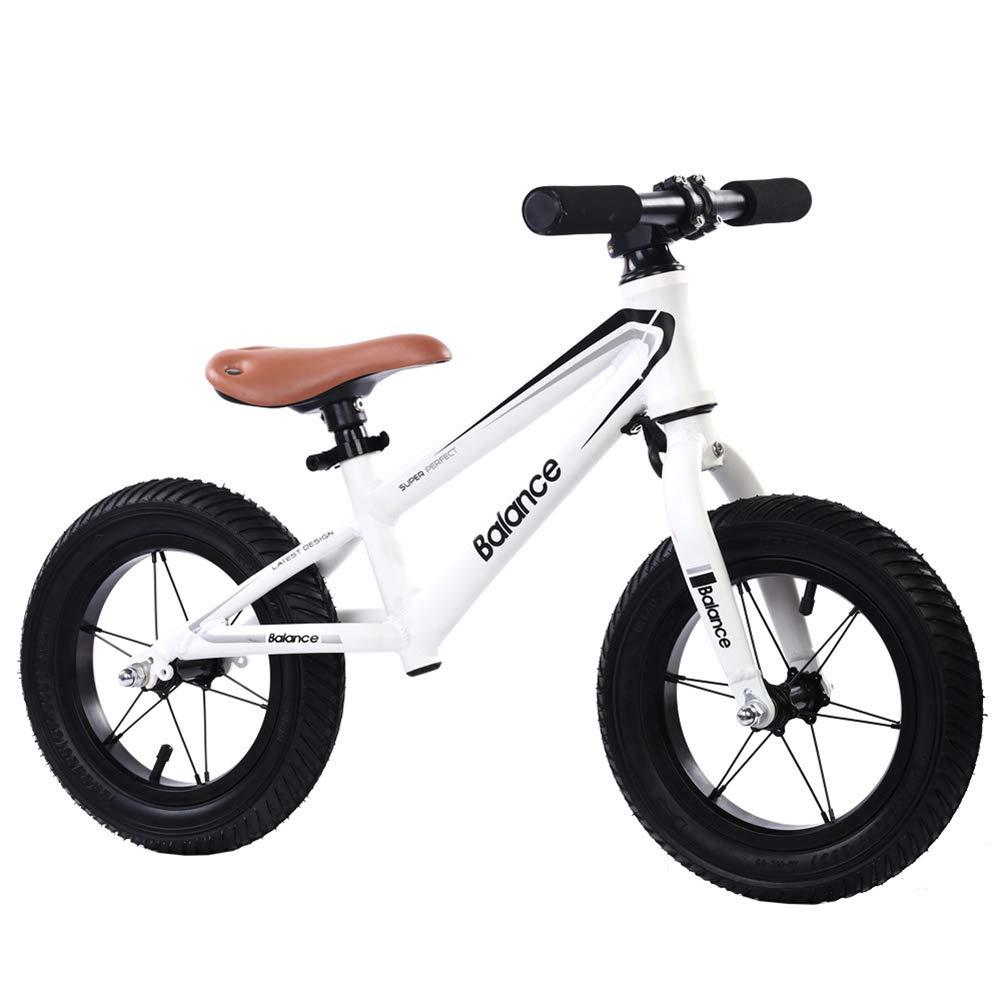 ahorra hasta un 80% FJ-MC Unisexo Bicicleta de Equilibrio, Sin Pedal Bicicleta Bicicleta Bicicleta de Entrenamiento para Caminar, con 12 neumáticos inflables para niños de 2 a 6 años y niños pequeños - blancoo  venta con alto descuento