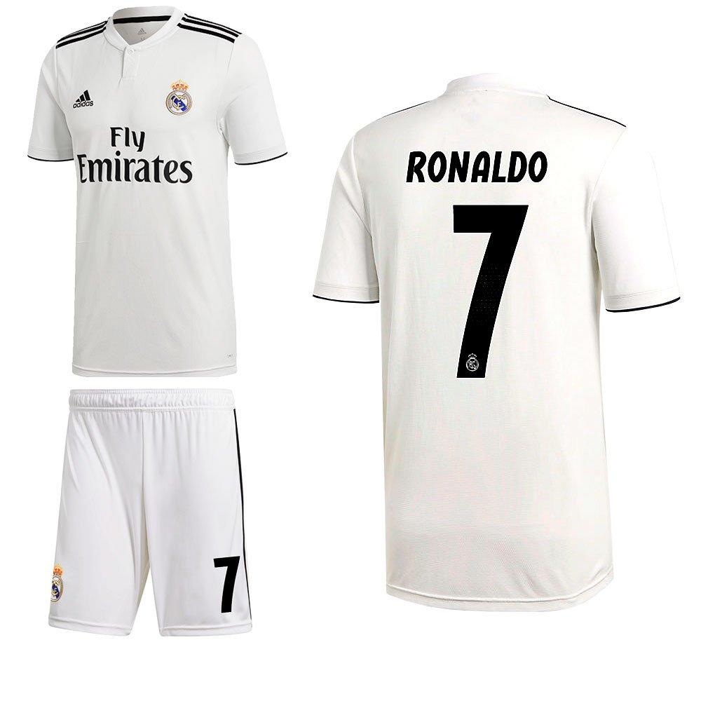 Adidas Fútbol Real Madrid CF Home Set 2018 2019 doméstica Juego Ronaldo 7 Hombre Niños, 128: Amazon.es: Deportes y aire libre