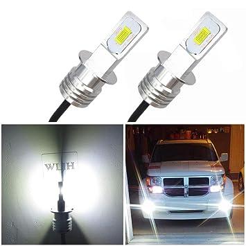 WLJH 6000 K Xenon blanco super brillante H3 LED luces antiniebla Bombillas de alta potencia 3570
