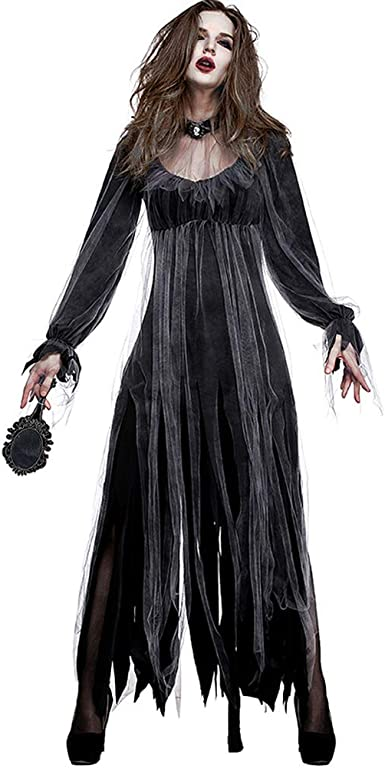 Disfraz De Halloween Horror Fantasma De La Mujer Zombi Traje ...