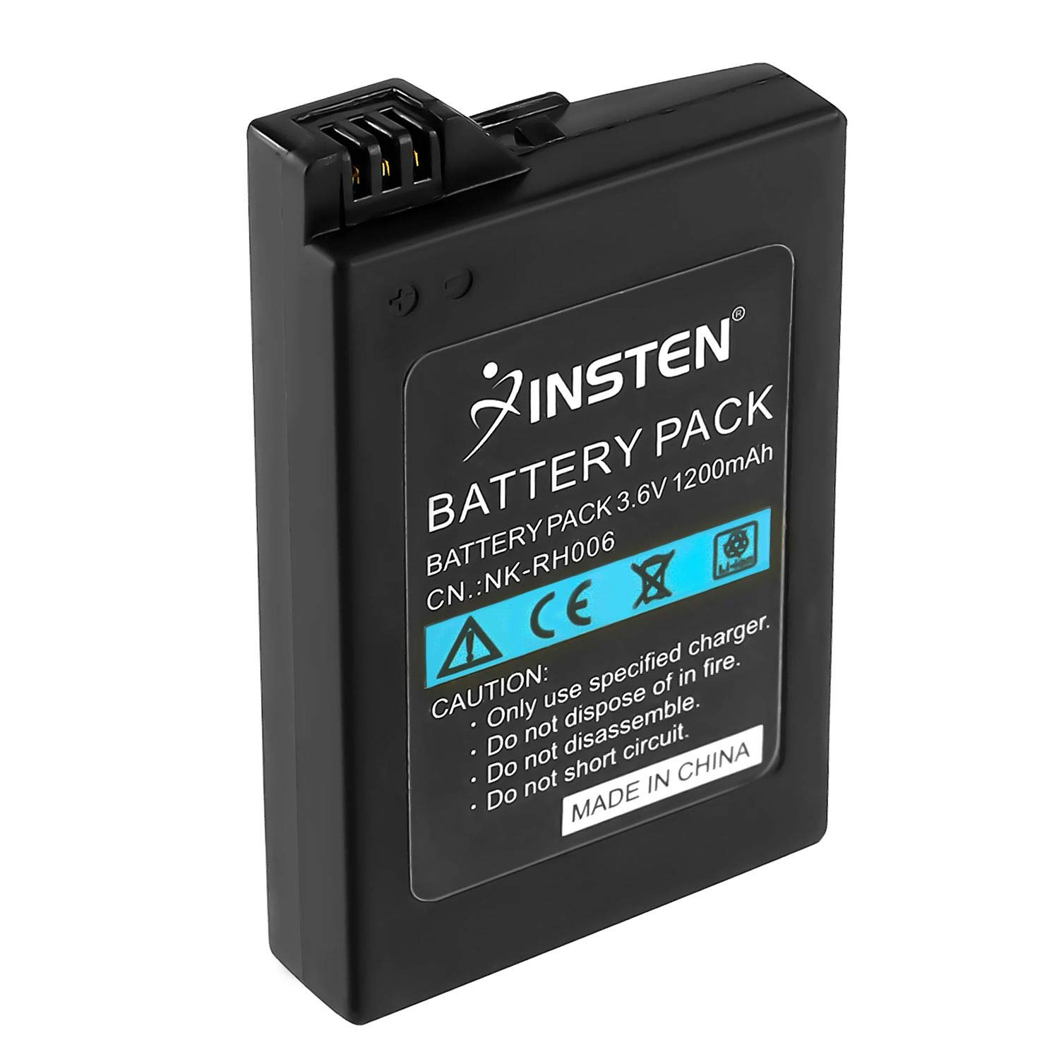 Insten Rechargeable Replacement Battery 1200mAh 3.6V Compatible With Sony PSP 3000 / PSP Silm 2000