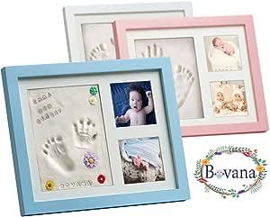 Pack de marcos de fotos Bovana Baby, de madera con arcilla para la ...