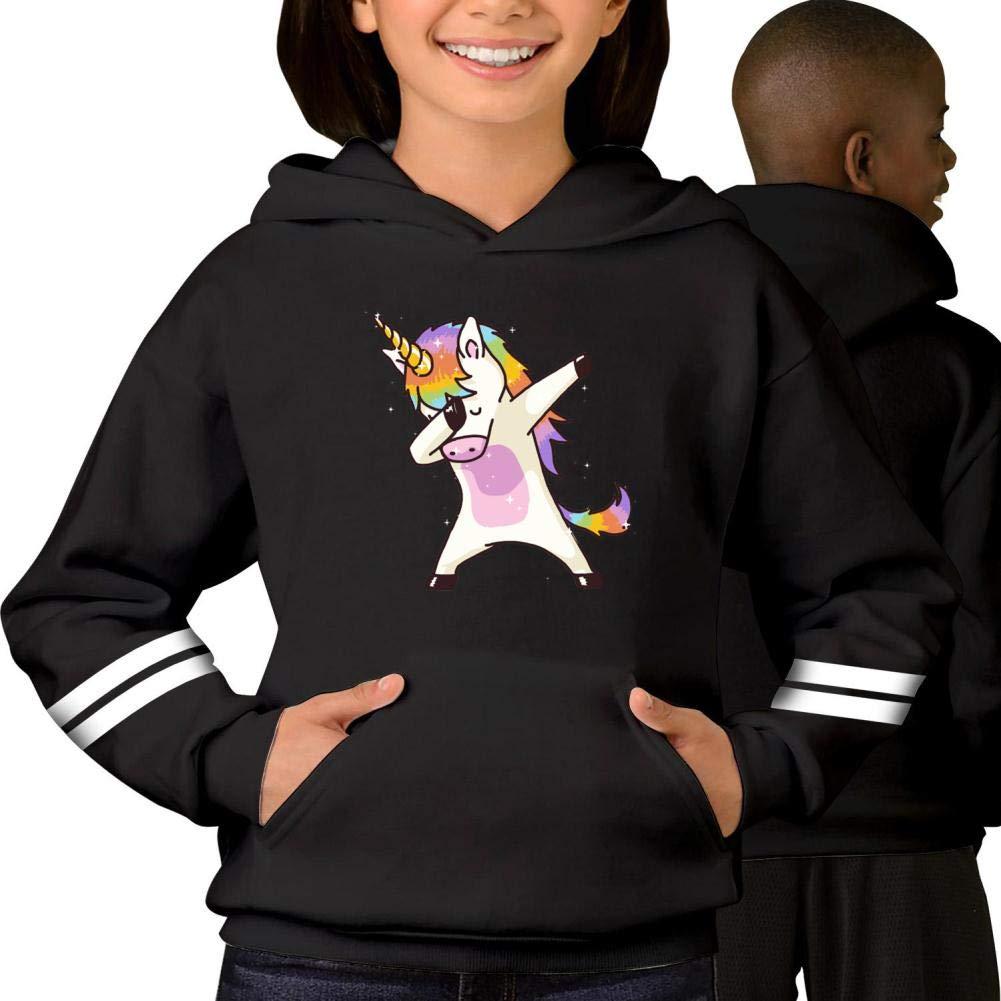 Youth Hoodie Unicorn Dabbing Dance Pullover Sweatshirt