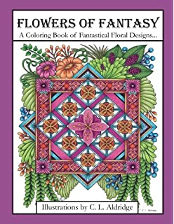 Flowers Of Fantasy A Coloring Book Fantastical Flower Designs In Vases