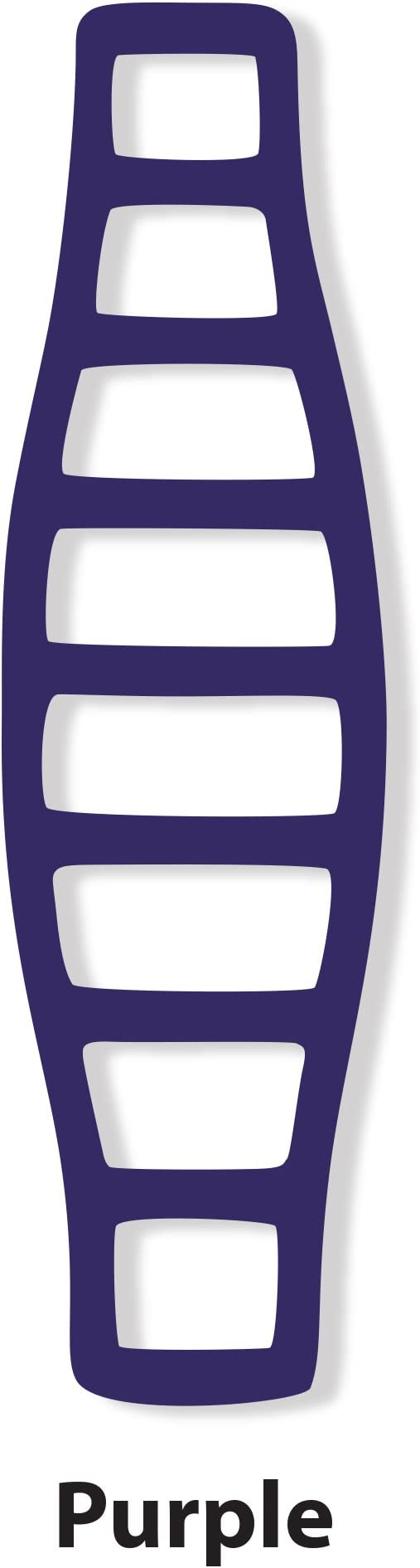 LocoModiv Unisex Silicone Shoulder Strap Pad #251 Purple One Size