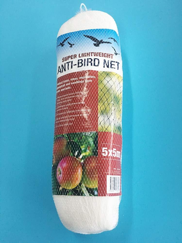 Anti Bird Netting Pond Fruit Tree Vegetables Net Predection Cover Crops Fer Garden Mesh Predect Gardening Pest Reject   5 Meter x 5 Meter