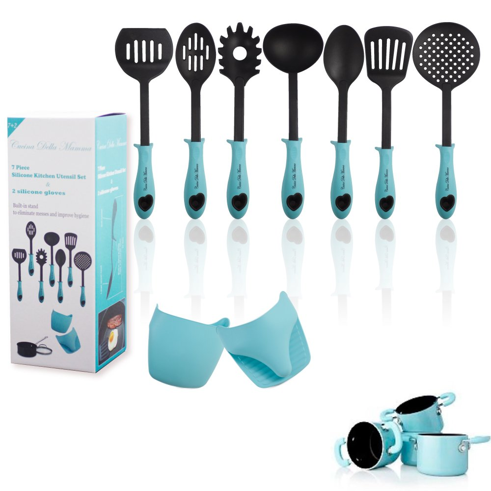 Amazon.com: Kitchen Utensil Set- Plus A Set Of 2 Heat Resistant ...