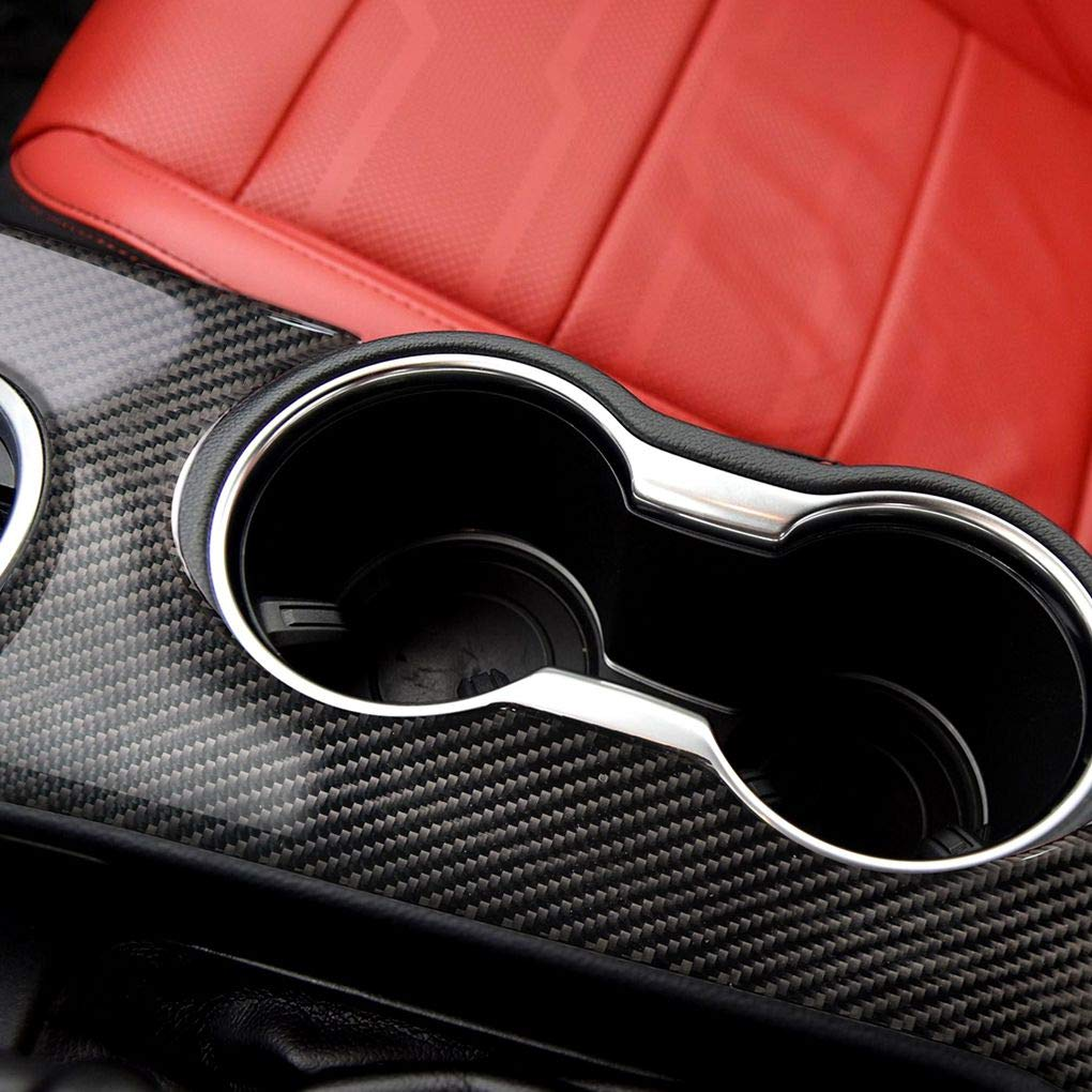 Topker Carbon Fiber Left Driving Shift Panel Bezel Cover Trim Replacement for Mustang 2015-2017 Car Interior Decor by Topker (Image #2)