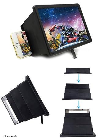 Takestop® Amplificador Video Box 12 de aumento portátil plegable pantalla pantalla Alta Definición 3d Smartphone