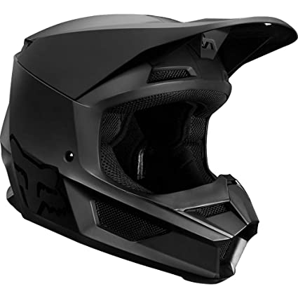 2019 Fox Racing V1 Matte Mens Off-Road Motorcycle Helmet - Matte Black/Large