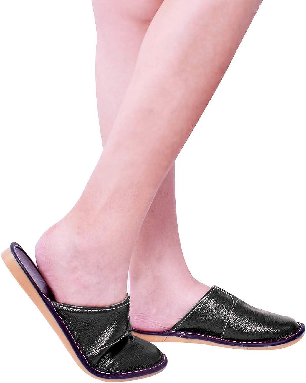 Nanxson Pantoufle Chausson en Cuir Multi-Couleurs Flexible Souple Chaud pour Adultes Unisexes Maison Bureau H/ôtel TX0008
