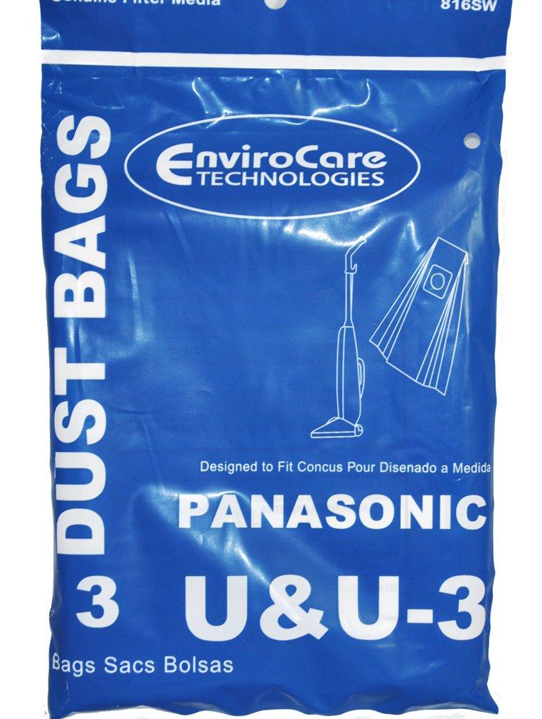 Panasonic U & u-3Upright Vacuum Bags, 3pezzi 3pezzi EnviroCare